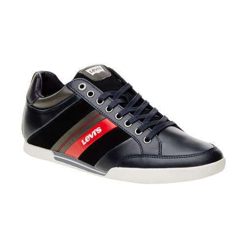 Sneakers informali di pelle levis, nero, blu, 844-9260 - 13