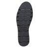 Scarpe basse da donna con plateau bata, nero, 524-6226 - 26