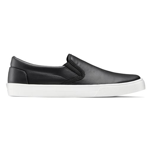 Sneakers nere senza lacci north-star, nero, 831-6111 - 26