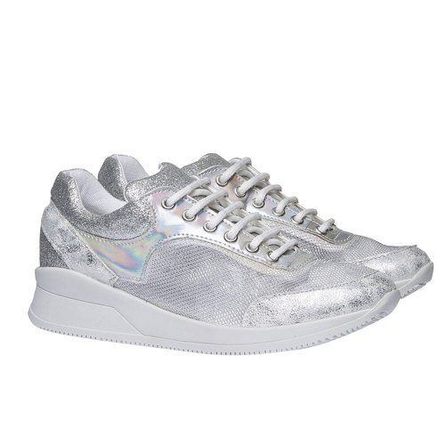 Sneakers metallizzate north-star, bianco, 549-1232 - 26