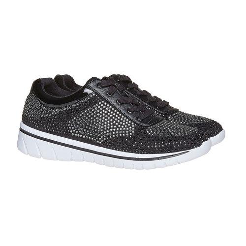 Sneakers da donna con strass, nero, 549-6261 - 26