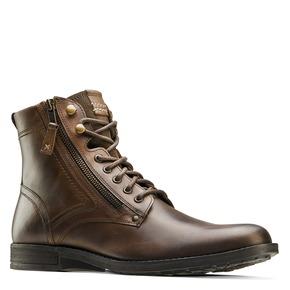 Scarpe di pelle alla caviglia bata, marrone, 894-4449 - 13