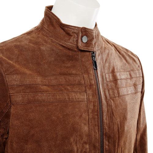 Giacca da uomo in pelle bata, marrone, 973-4109 - 16