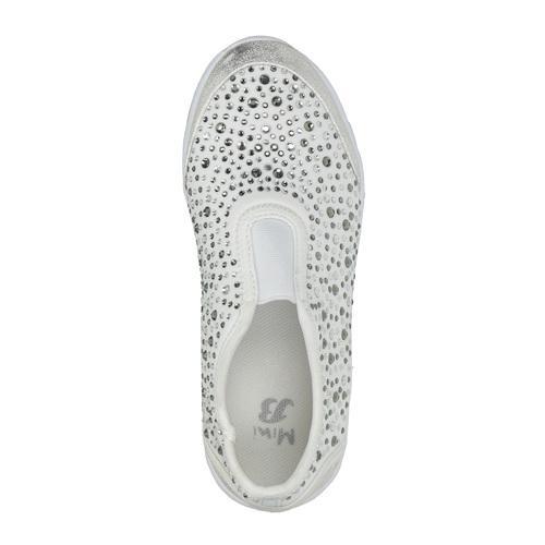 Sneakers da ragazza con strass mini-b, bianco, 329-1203 - 19