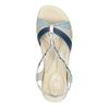 Sandali da donna in pelle bata-touch-me, viola, 564-9353 - 19