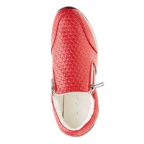 Sneakers dal design intrecciato north-star, rosso, 531-5114 - 19