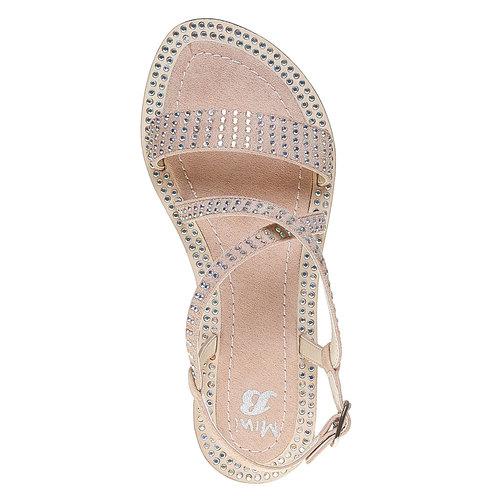 Sandali con strass mini-b, marrone, 369-3169 - 19