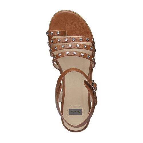 Sandali da donna con flatform bata, marrone, 661-3186 - 19