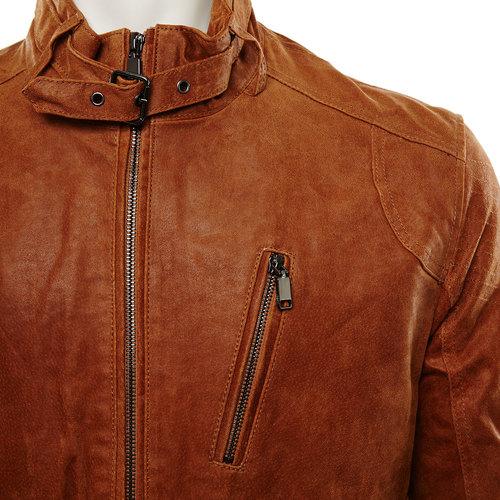 Giacca da uomo in pelle bata, marrone, 973-3108 - 16