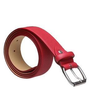 Cintura di pelle con perforazioni bata, rosso, 954-5154 - 13