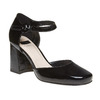Sandali verniciati in pelle con punta chiusa bata, nero, 728-6372 - 13