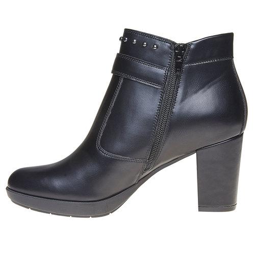Scarpe da donna alla caviglia bata, nero, 791-6443 - 19