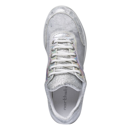 Sneakers metallizzate north-star, bianco, 549-1232 - 19