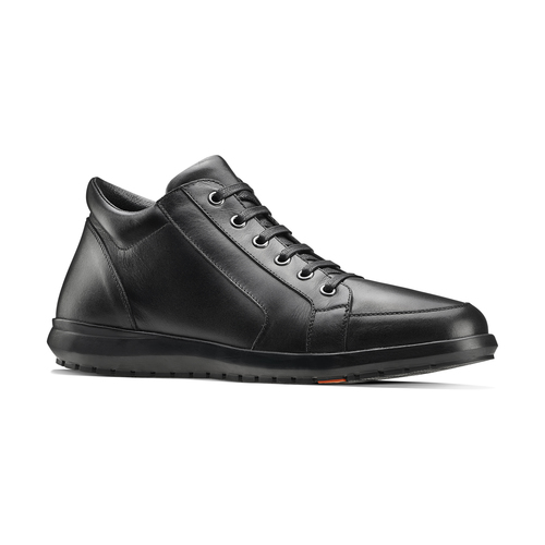 Sneakers di pelle nera flexible, nero, 844-6205 - 13