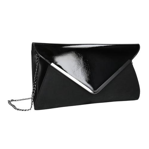 Pochette nera con catena argentata bata, nero, 961-6221 - 13