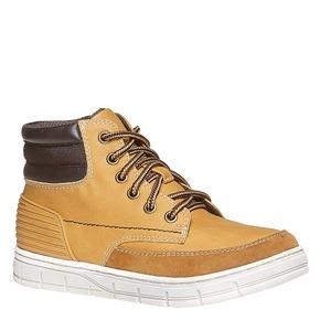 Scarpe da bambino alla caviglia mini-b, beige, 391-8257 - 13