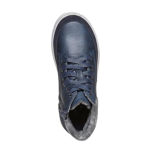 Sneakers da bambino alla caviglia mini-b, blu, 391-9257 - 19