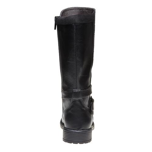 Stivali da ragazza con strass mini-b, nero, 291-6166 - 17