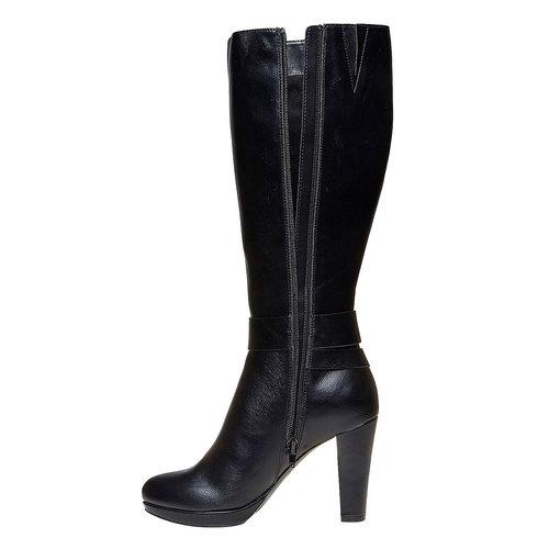 Stivali da donna con fibbie bata, nero, 791-6306 - 19