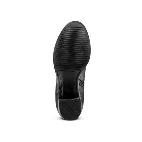 Stivali da donna con tacco stabile bata, nero, 694-6361 - 17