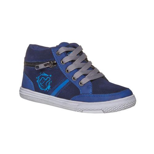 Sneakers da bambino alla caviglia mini-b, blu, 314-9236 - 13
