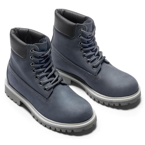 Scarpe invernali da bambino sopra la caviglia weinbrenner-junior, blu, 396-9263 - 19
