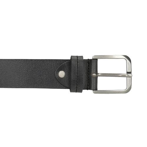 Cintura in pelle nera bata, nero, 954-6106 - 26