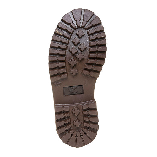 Scarpe invernali di pelle da bambino weinbrenner-junior, marrone, 394-4182 - 26