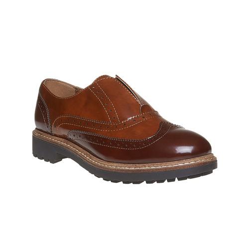 Scarpe basse verniciate da donna bata, marrone, 511-3194 - 13
