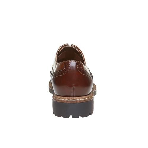 Scarpe basse verniciate da donna bata, marrone, 511-3194 - 17