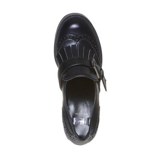 Scarpe da donna con tacco stabile bata, nero, 721-6191 - 19