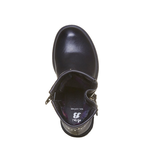 Scarpe da ragazza alla caviglia mini-b, nero, 291-6157 - 19