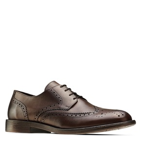 Derby da uomo in pelle bata, marrone, 824-4429 - 13