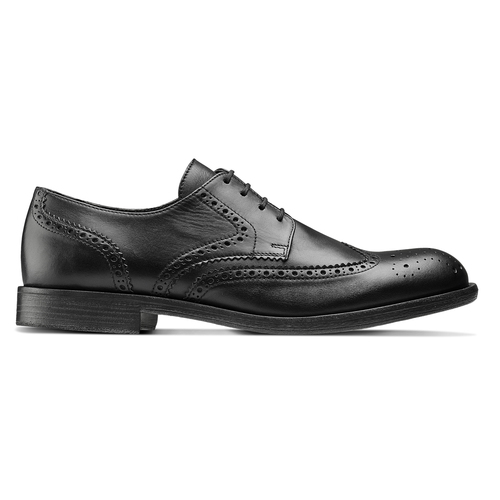 Stringate Brogue in pelle bata, nero, 824-6429 - 26