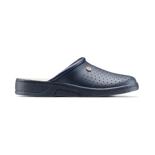 Pantofole di pelle bata-comfit, blu, 874-9803 - 26