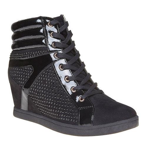 Sneakers da donna con plateau north-star, nero, 729-6360 - 13