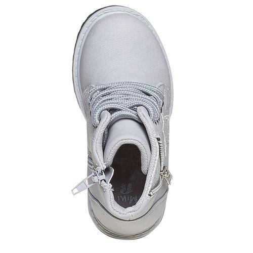 Scarpe alla caviglia da bambina con cerniera mini-b, grigio, 291-2161 - 19