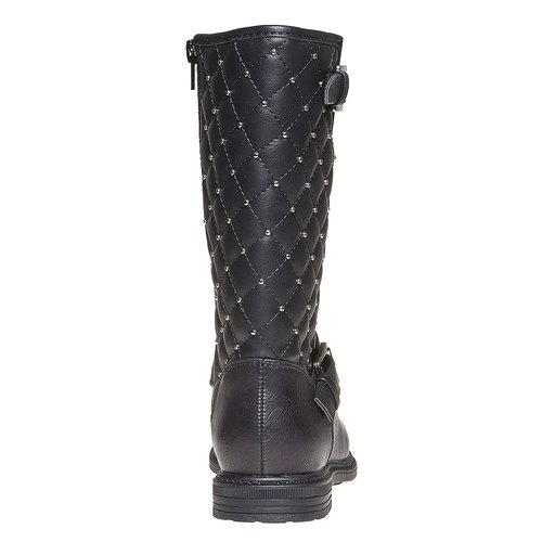 Stivali da ragazza con cuciture mini-b, nero, 391-6252 - 17