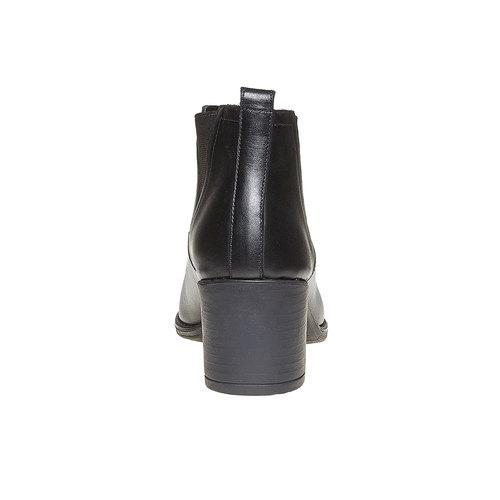 Stivaletti da donna di pelle alla caviglia bata, nero, 694-6384 - 17