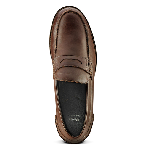 Mocassino in pelle bata, marrone, 814-4128 - 15