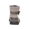Scarpe da bambino con orlo in tessuto a maglia mini-b, grigio, 291-2154 - 17