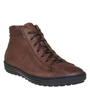 Sneakers di pelle alla caviglia bata, marrone, 594-4659 - 13