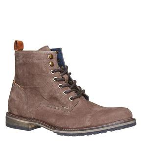 Scarpe in pelle da uomo alla caviglia bata, marrone, 893-4357 - 13
