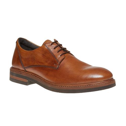 Scarpe basse da uomo in pelle bata, marrone, 824-3219 - 13