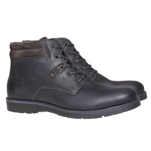 Scarpe da uomo alla caviglia bata, nero, 894-6281 - 26