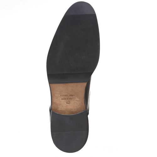 Scarpe basse di pelle in stile Derby bata-comfit, nero, 824-6619 - 18