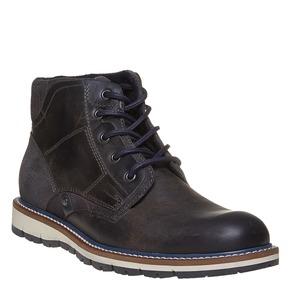 Scarpe di pelle alla caviglia bata, nero, 894-6271 - 13