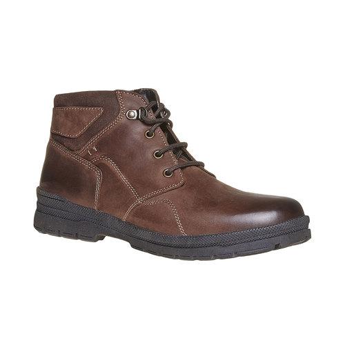 Scarpe in pelle da uomo alla caviglia bata, marrone, 896-4638 - 13