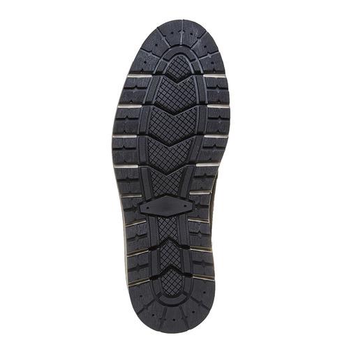 Scarpe di pelle alla caviglia bata, nero, 894-6271 - 26