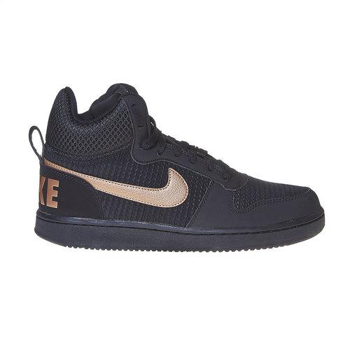 Sneakers da donna alla caviglia nike, nero, 509-6332 - 15